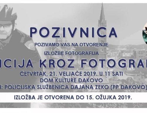 """""""Policija kroz fotografiju"""" izložba u Centru za kulturu Đakovo"""
