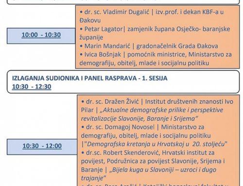 """MDOMSP u partnerstvu s Gradom Đakovom organizira Konferenciju """"Doprinos JLP(R)S demografskoj revitalizaciji Slavonije, Baranje i Srijema"""""""